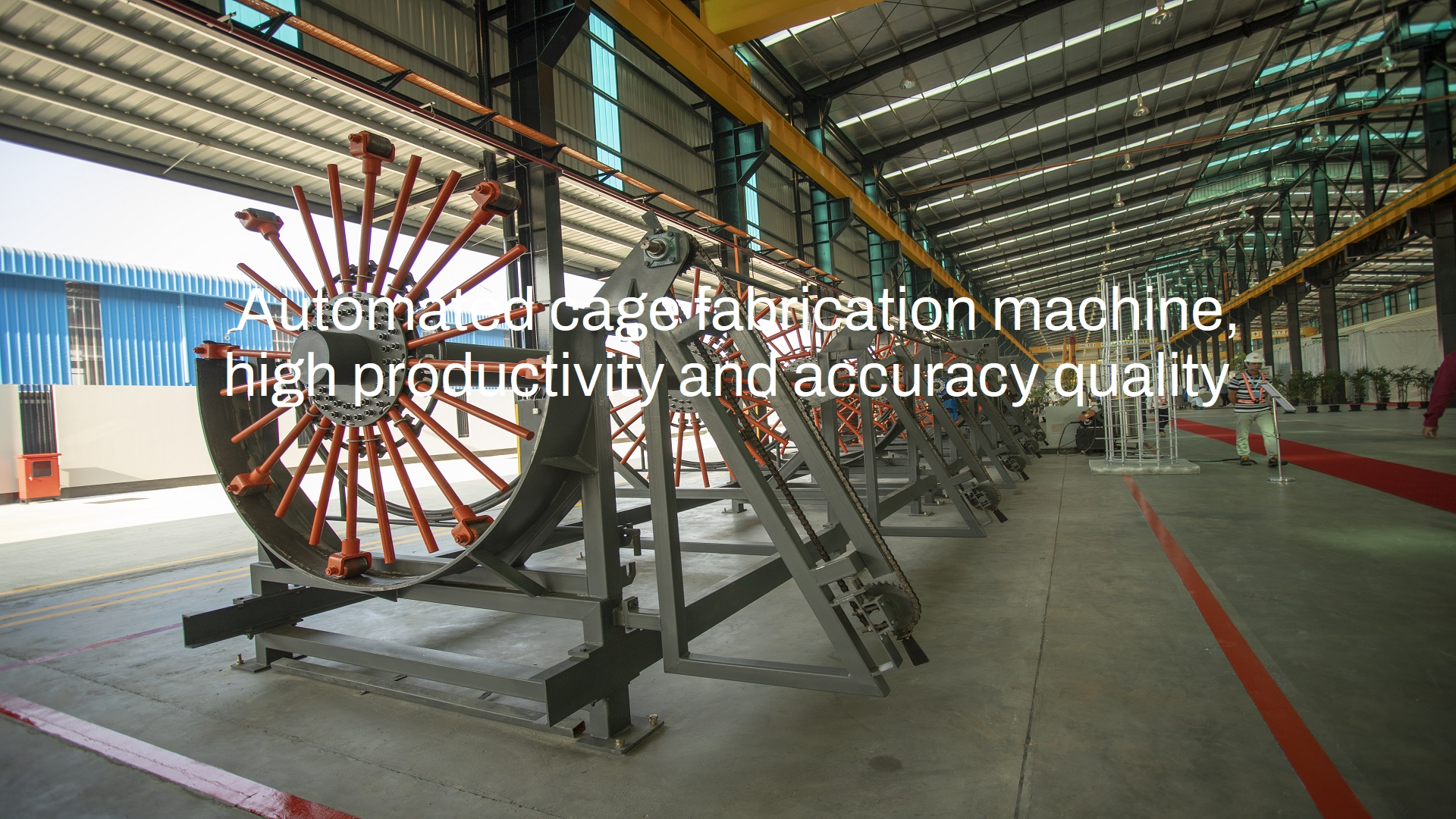 Automated cage fabrication machine, high productivity and accuracy quality