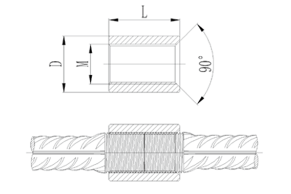 SPLICE WITH ONE SLOPE END