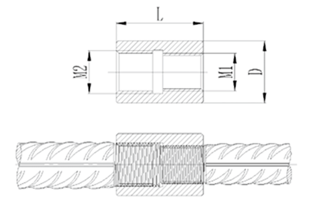 Splice with Different Bar Diameters