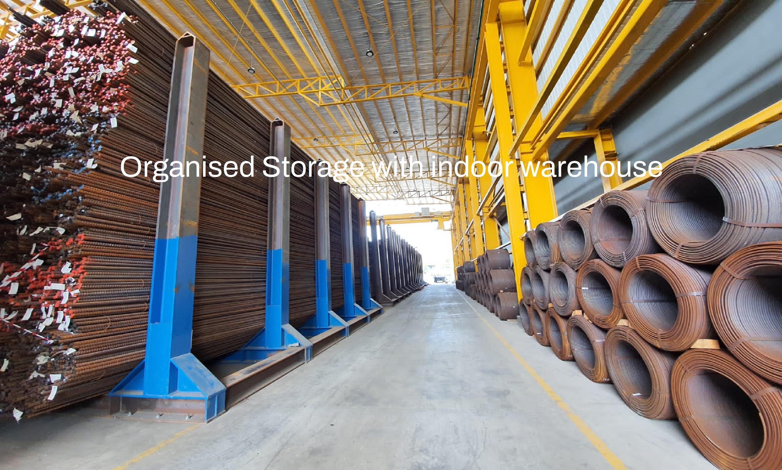 Organised Storage with indoor warehouse